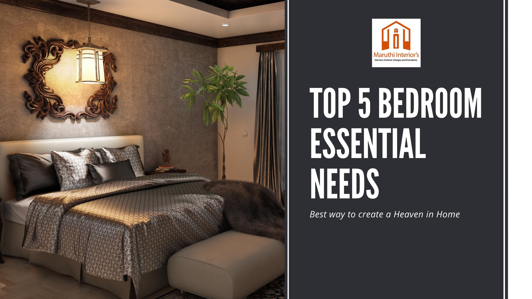 Bedroom Essentials Maruthi Interiors